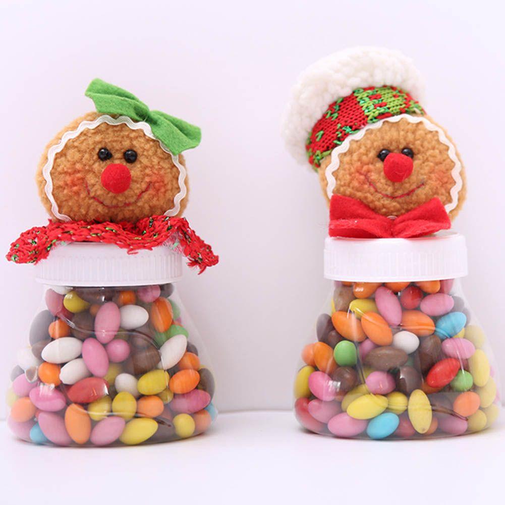 best hot cute christmas candy storage box jar bottle gingerbread man xmas home organization decoration sugar bottles case decor under 2465 dhgatecom - Best Christmas Candy