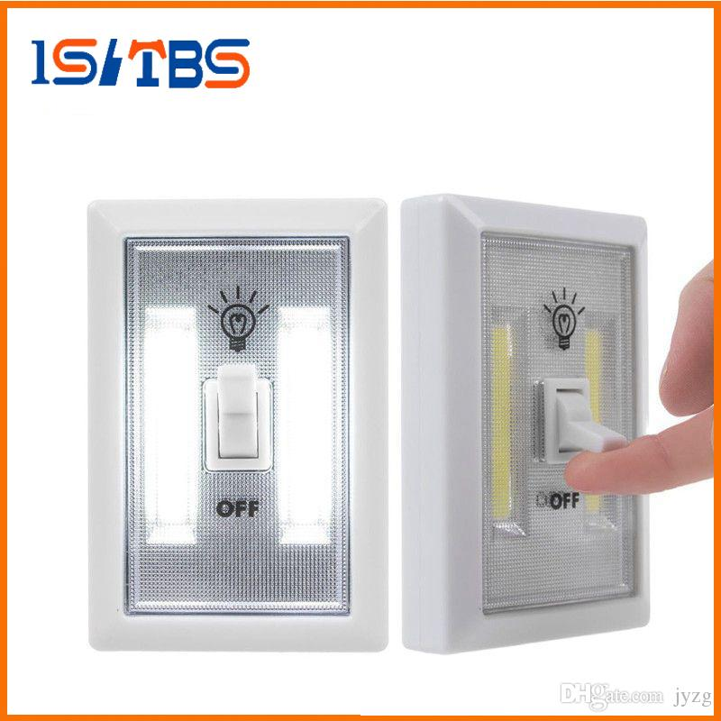 COB는 빛 무선 무선에서 캐비닛 옷장 주방 RV 나이트 라이트 실내 벽 조명 야간 조명 스위치 LED