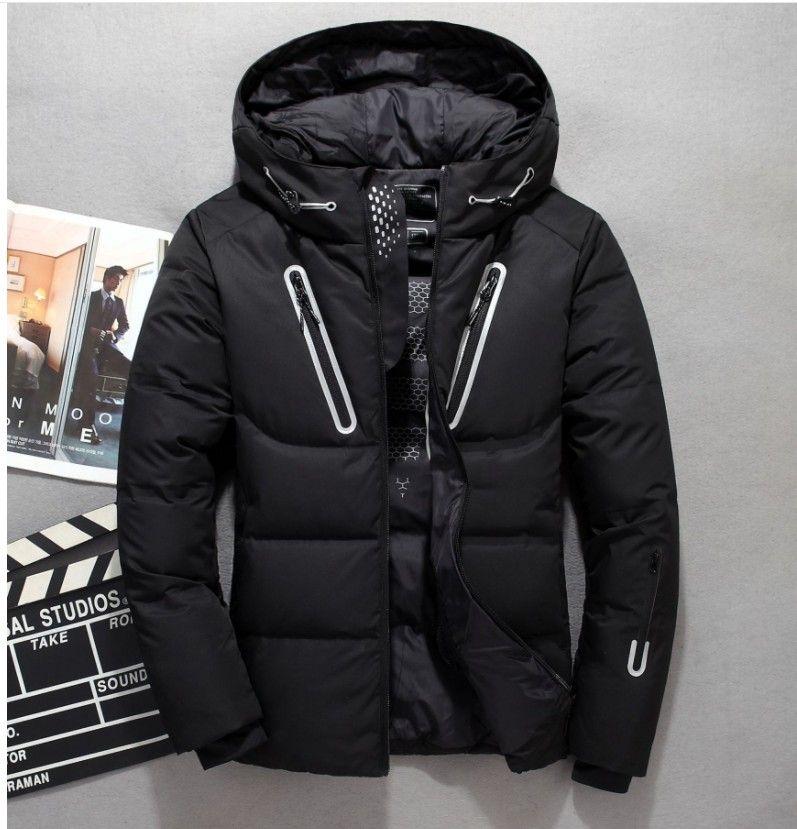 eeda38707b807 Men Hooded Outdoor Duck Down Jacket Winter Thick Plus Size Down Coat ...