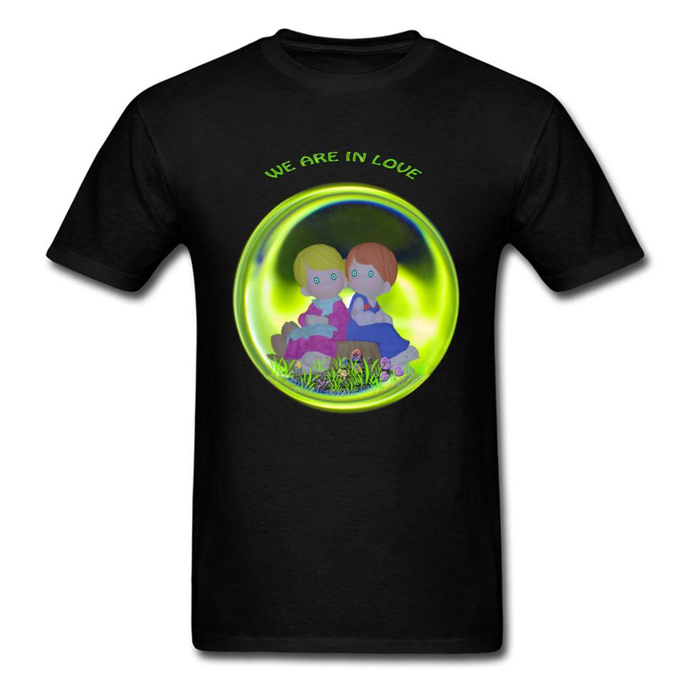 8861eeba5 We Are In Love Men Black T Shirt Boy And Girl Cartoon Character Print Male  Unique Valentines T Shirt Odd Halloween Tops T Shirt Every Day Funny Cool  Shirts ...