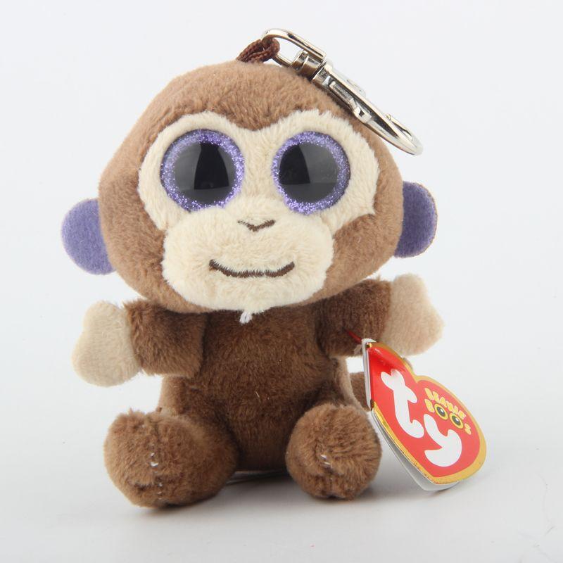 Ty Beanie Boos Big Eyes Brown Monkey Keychain Toy Doll TY Baby Kids Gift UK  2019 From Heathera be0405fdace0
