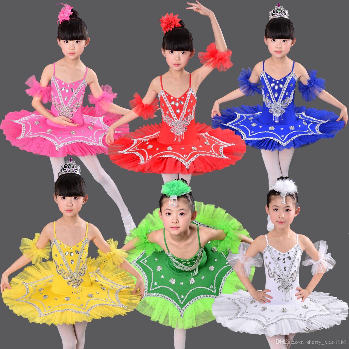 Professional White Swan Lake Ballet Tutu Costume Girls Children Ballerina Dress