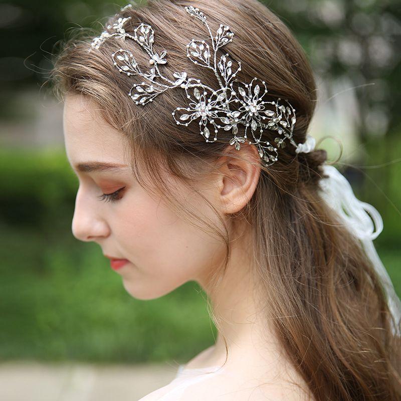 Costumes, Reenactment, Theater Clothing, Shoes & Accessories Beaded Headdress Wedding Gold Metal With Grey Beads Soft Tiara Boho Headband