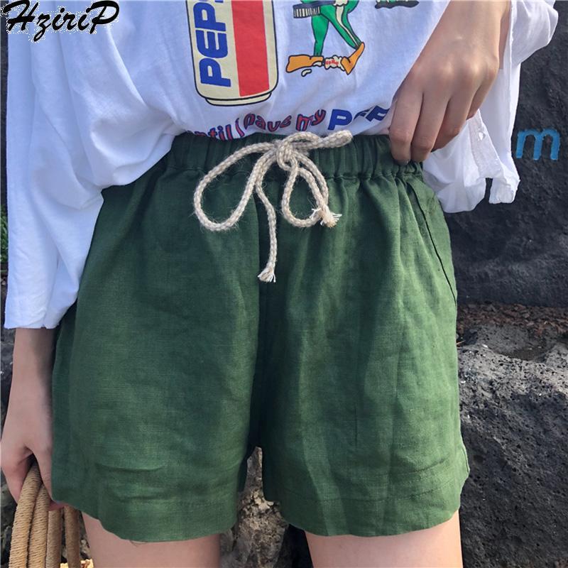 Compre Hzirip 2018 Venta Caliente Moda Fajas Sólidas Nuevas Mujeres Alta  Cintura Elástica Cordón De Lino Del Algodón Pantalones Sueltos Informal  Sólido A ... 2c2839ef2169