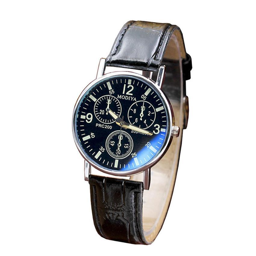 f6d1eb286a4b Compre Seis Relojes Relojes De Cuarzo Reloj De Los Hombres Reloj De Correa  De Cristal Azul Hombres Hombres Negocio Negocio Relojes De Pulsera De  Cuarzo ...