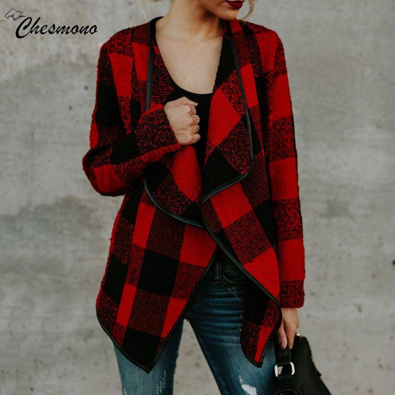 Großhandel Herbst Winter Cardigan Wollmantel Frauen Rot Khaki