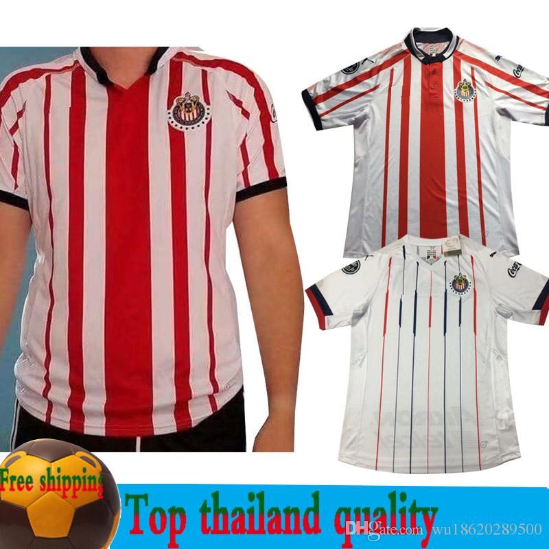 new arrivals 167fb 1c1bd S-XXL 2018 2019 MX Chivas de Guadalajara Home LOPEZ Soccer Jerseys 18 19  Club Deportivo Camiseta PIZARRO Away Football Shirt