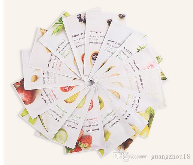 2018 14 kinds Innisfree Squeeze Mask Sheet Moisturising Face Skin Treatment Oil-control Facial Mask Peels Skin Care 50lot