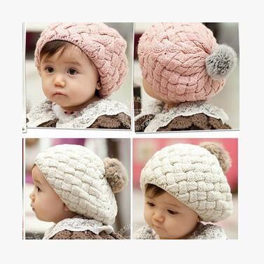 2019 Baby Hats Pom Pom Knit Hat Girls Boys Beanie Winter Toddler