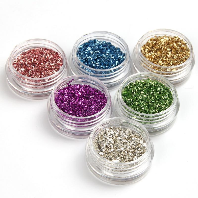 Mixed Colors Nail Tips Decoration 3d Glass Nail Art Supply Diy