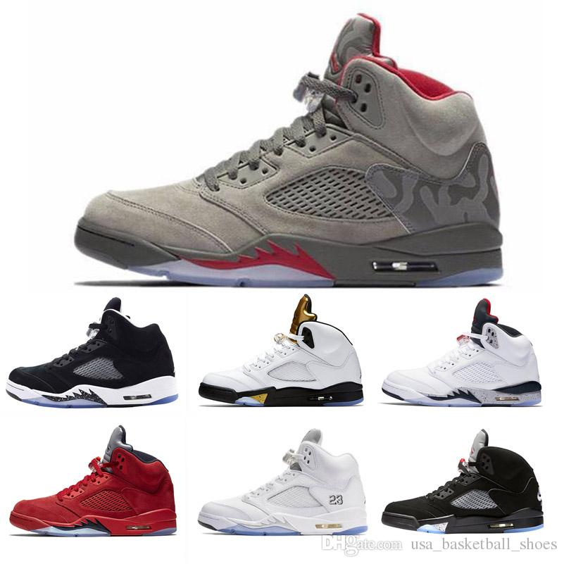 the latest b7237 e3313 High Quality 5 5s V International Flight White Cement Men Basketball Shoes  OG Black Camo Grey Red Blue Suede Fire Red Sport Sneakers Kids Sneakers  Shoes ...