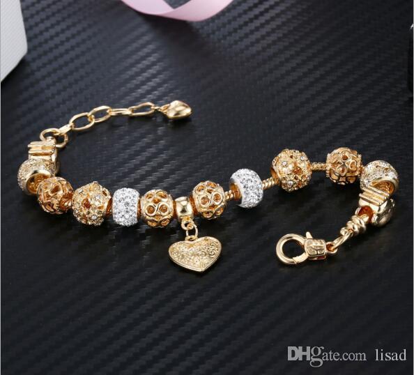Посеребренные формы сердца бусины браслеты, милые обезьяны подвески цепи браслеты для детей, мода декор ювелирные изделия аксессуары для женщин