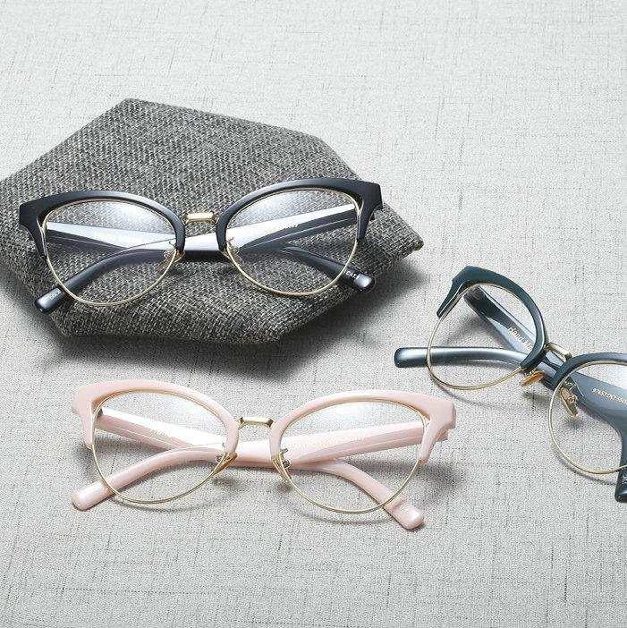 a1e9943e5930 2019 Fashion Cat Reading Eyeglasses Optical Glasses Frames 2018 New Glasses  Women Frame Ultra Light Frame Clear FML From Xailiang