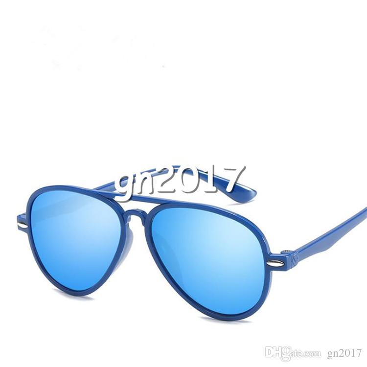 Fashion Children Anti-UV Sunglasses Color Film Glasses Big Frame Eyeglasses Spectacles for Boys and Girls Walking Travel Sun Glasses