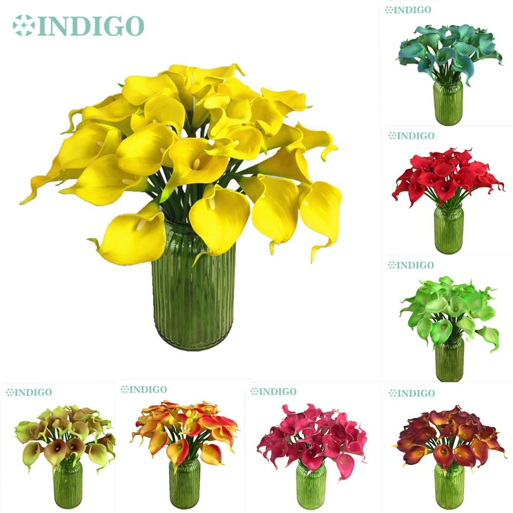 2018 Mini Size Pu Calla Lily Real Touch Many Colors Decorative