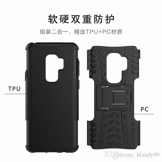 für Samsung Galaxy S9 plus 2 in 1 Kamm Rüstung Hybrid TPU + PC Hard Cover Ständer Unterstützung für Samsung J2 Pro 2018