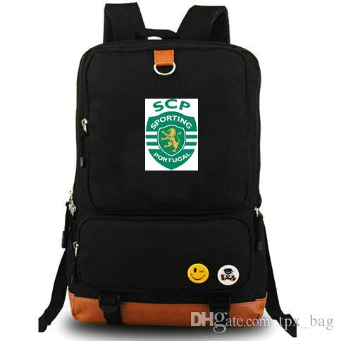 f5e6412428 Lisbon Backpack Sporting Clube De Portugal Daypack SCP Football Club  Schoolbag Soccer Team Rucksack Canvas School Bag Outdoor Day Pack Lisbon  Backpack ...