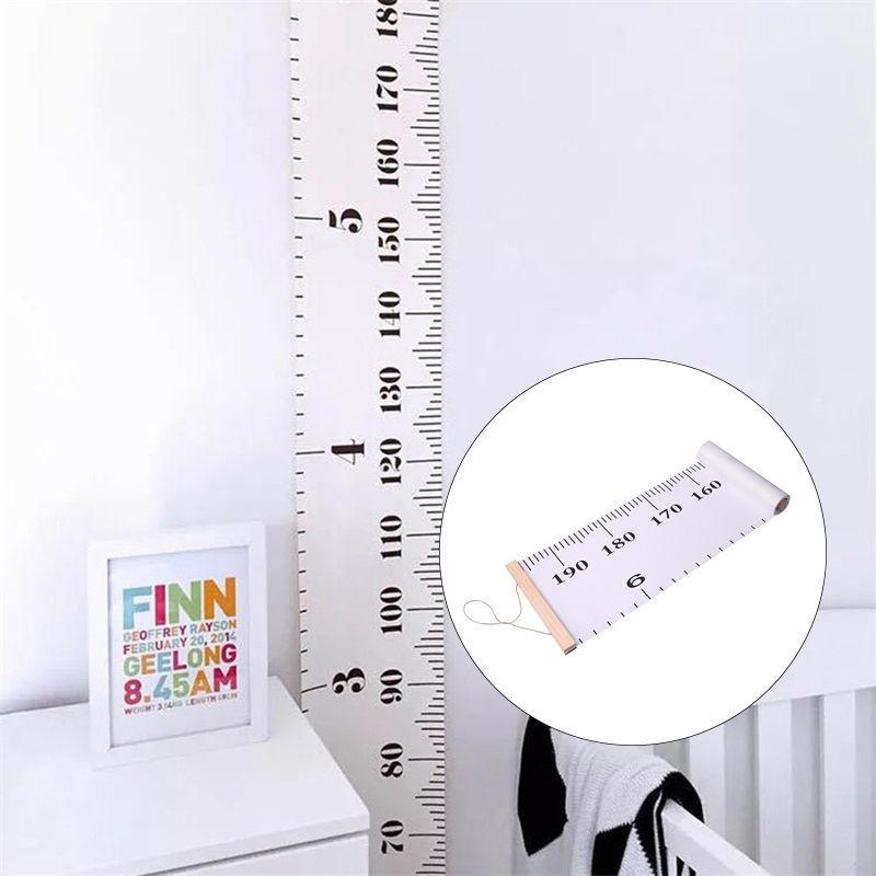 Wooden Wall Hanging Baby Child Kids Growth Chart Height Measure