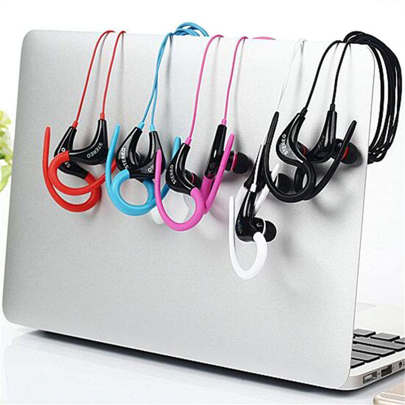 Nueva Llegada Al Por Mayor OEM 3.5mm Deporte Auriculares Ear Hook Auriculares Con Cable Auriculares Estéreo Bajo Música Manos Libres con Paquete Al Por Menor