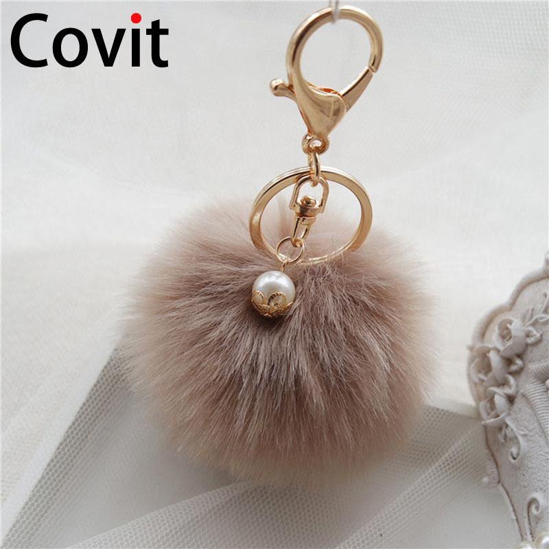 Covit Super Fluffy Fur Ball Key Chain Rings Cute Pompom Women Keychain Car  Pendant Ornaments Bag Accessories Christmas Gift Lanyard Keychain 808  Keychain ... e53d4442db