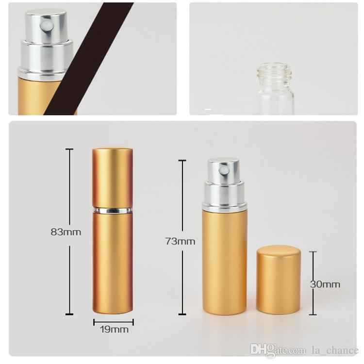 Epacket livre 5 ml Mini Portátil Recarregáveis Perfume Atomizador Frasco de Spray Colorido Vazio Frascos De Perfume da moda Garrafa de Perfume