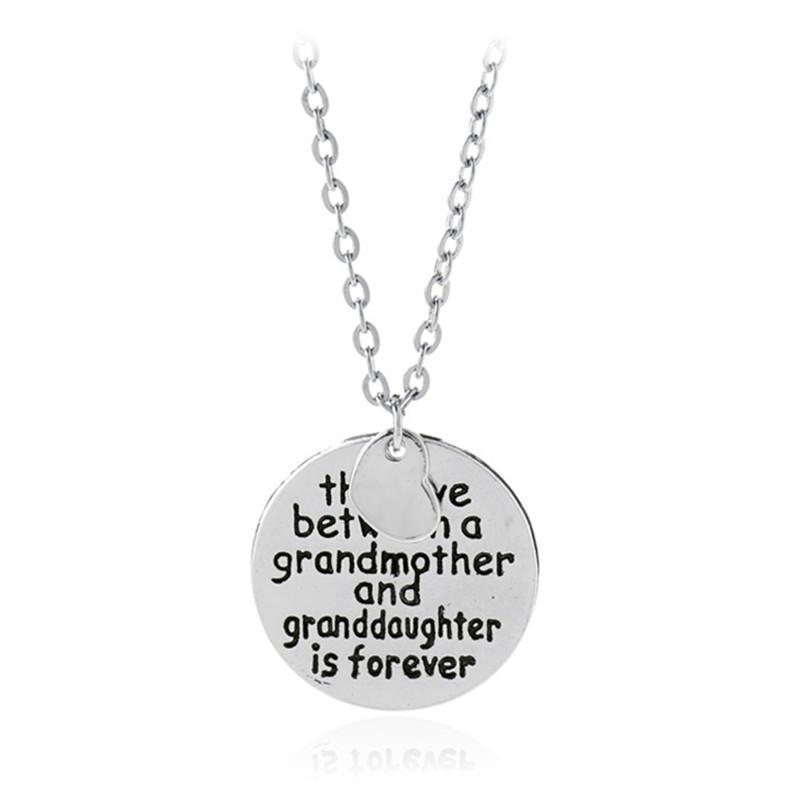 할머니와 손녀 사이의 사랑 목걸이 알로만 문 펜던트 목걸이 사랑 목걸이 패션 주얼리 할머니 선물