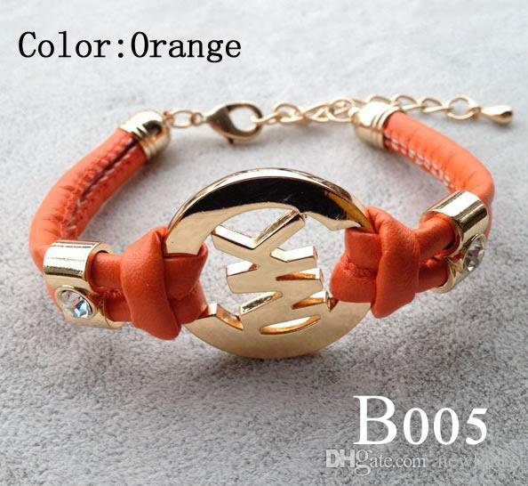 Women's Charm Bracelet Handmade Retro PU Leather Bracelet Men Women Fashion Jewelry Gold Chain Multilayer Bracelet B005