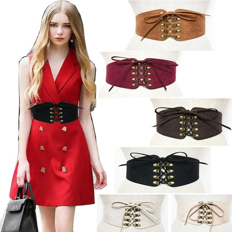 d51c3be788 Sexy Women Belly Slimming Belt Modeling Strap Steampunk Accessories Tummy  Control Gothic Leather Rivet Lace Up Tie Rope Corset Belts Belt For Men  Wedding ...