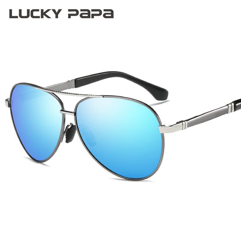 0108dabffb7ac LUCKY PAPA Men s Sunglasses Brand Designer Pilot Polarized Male Sun Glasses  Eyeglasses Gafas Oculos De Sol Masculino For Men 510 Oculos De Sol  Masculino ...