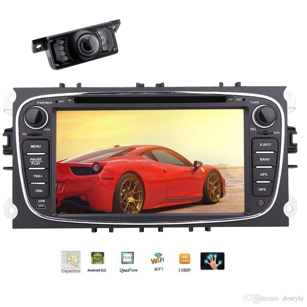 Android 6 0 Car DVD Player 7'' Touch Screen in Dash Car Stereo GPS  Navigation Head Unit Wifi/Mirror link/Bluetooth/1080P
