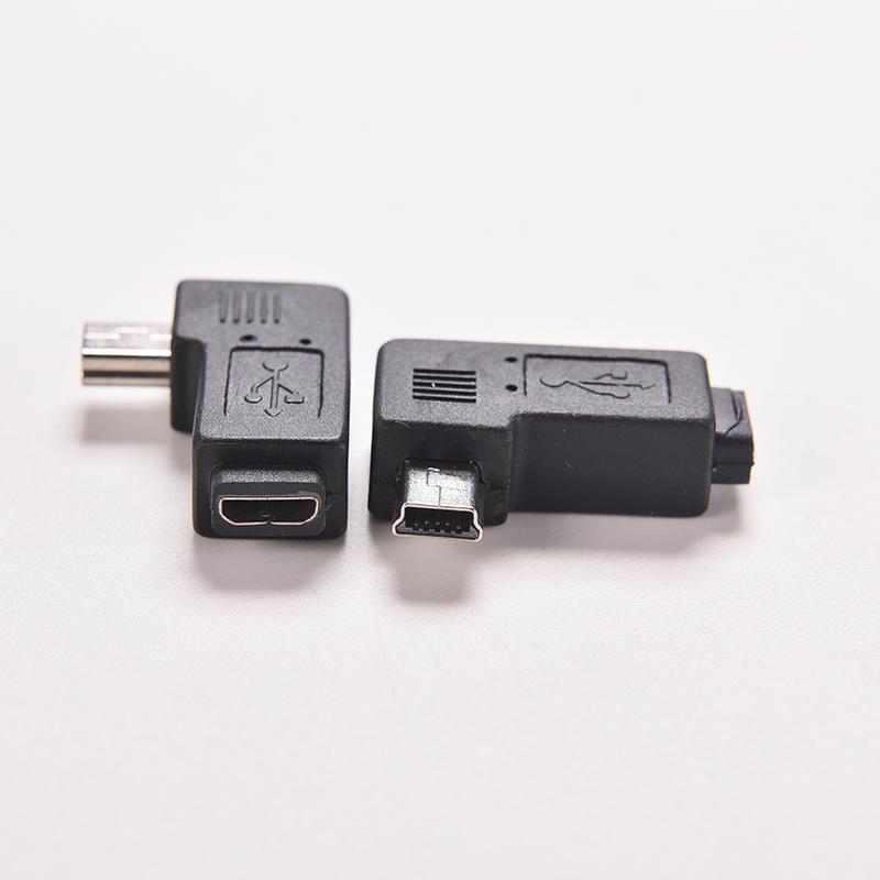 New 4 Type Black Micro Mini Usb Female To Mini Micro Usb Male