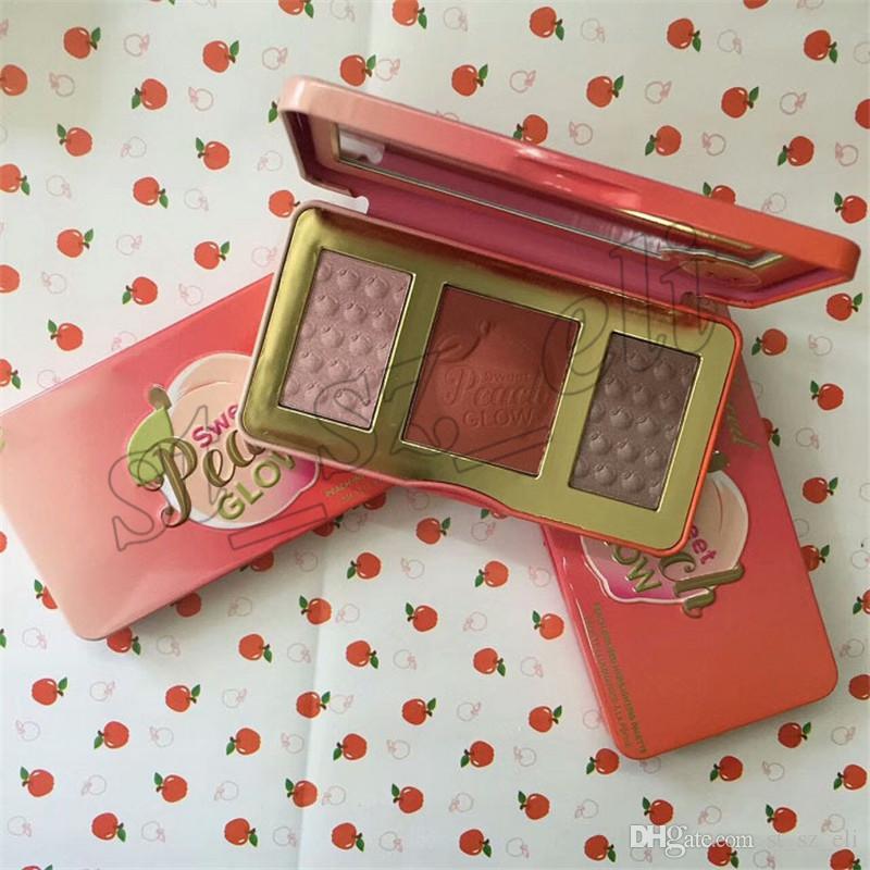 Sweet Peach Glow Highlighter Blush Palette maquillaje Sweet peach Glow Powder Maquillaje de larga duración Colorete en la cara es