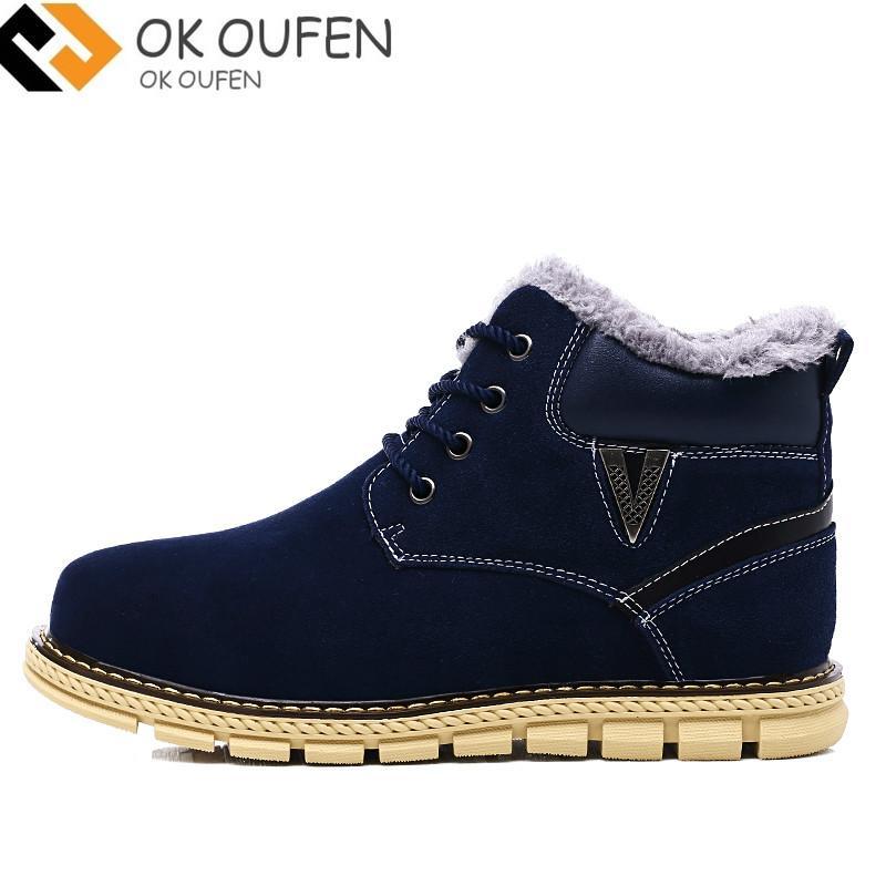 Compre 2018 Homem Marca Inverno Homens Botas Moda Lace Up Homem 2018 Sapatos 4f0584