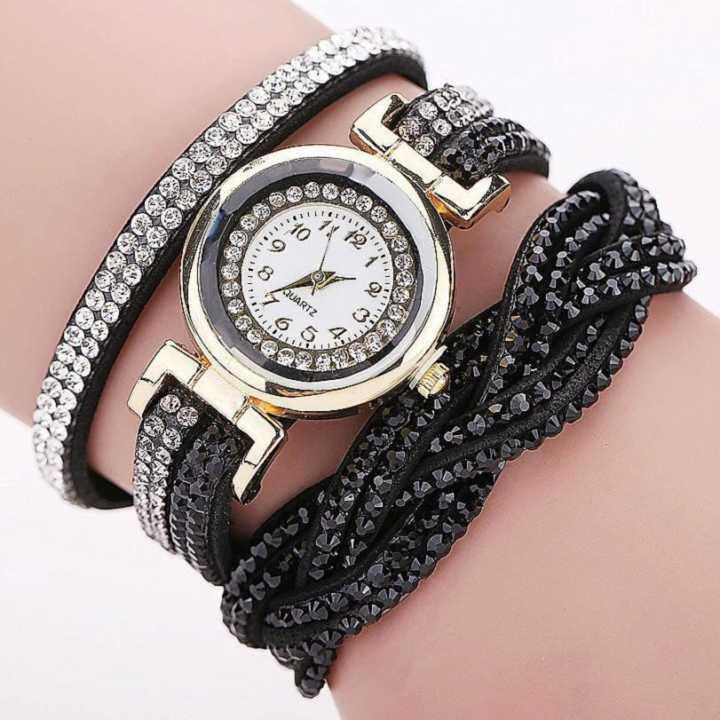 Madam Watch Quartz Watch Bracelet Drill Insert Loop Hemp Weaxing Europe And  America Sports Simple And Tenency Lady Watches Taste Relaxation