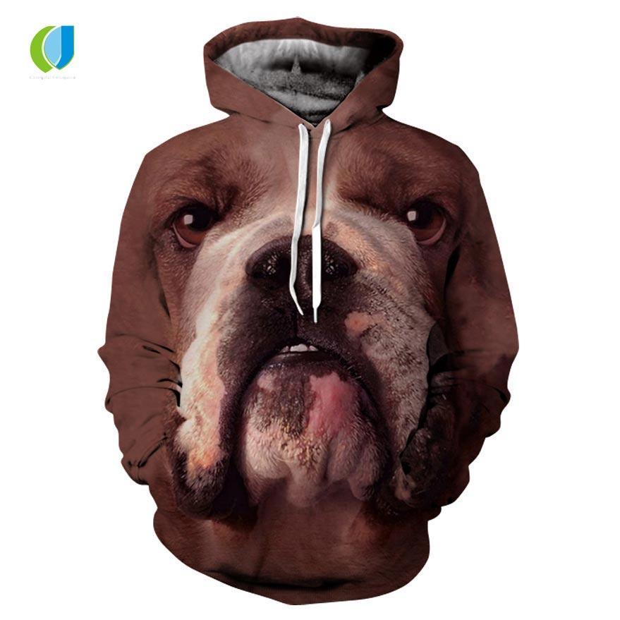 0fc254d0c Compre 2018 Nova Camisa Com Capuz Tigre   Cão   Águia Vários Animais Impressão  3D Moda Outono Camisola Homens E Mulheres Hoodies De Dolylove