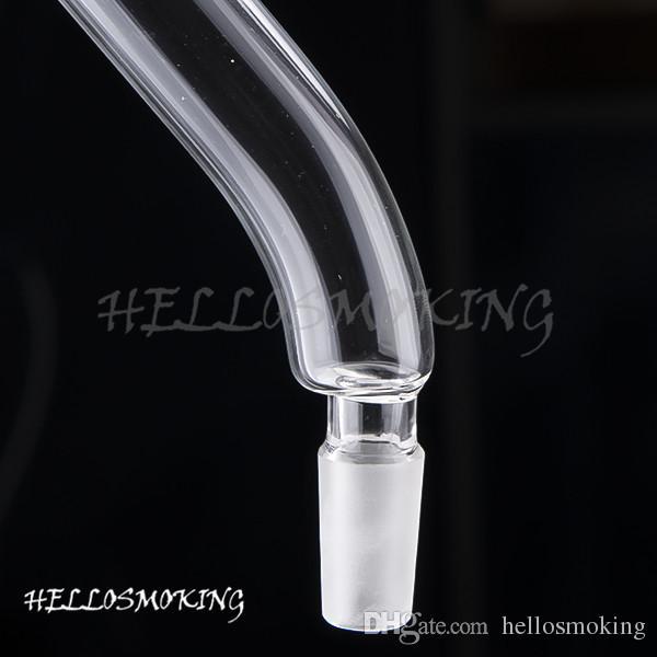 Bocca di vetro pezzo 14 millimetri femminile vetro acqua tubo di vetro al quarzo Accessori Banger Nails hellosmoking 402
