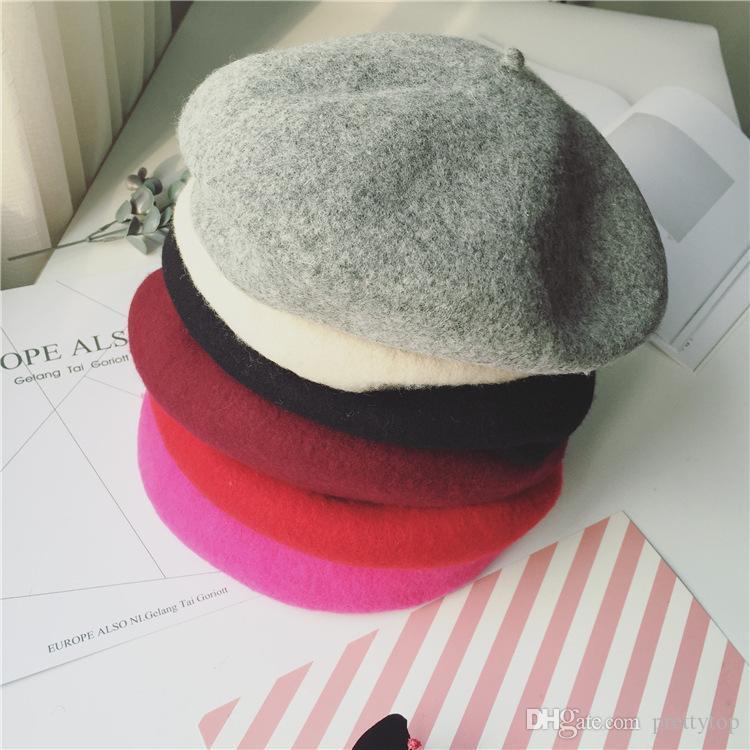 Compre Otoño E Invierno Nuevo Sombrero De Lana Sólido Ajustable Retro Moda  Mujer Boina A  84.3 Del Prettytop  bdc03ebf46f