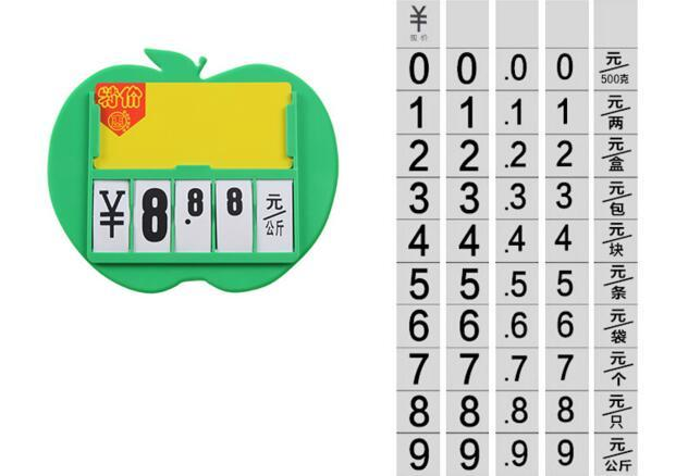 Frete grátis Supermercado frutas vegetais preço menu photo frame POP publicidade cartaz preço tag display holder