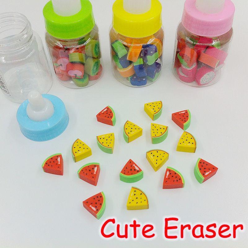 2019 Wholesale Cute School Supplies Kawaii Mini Fruit Pencil Rubber