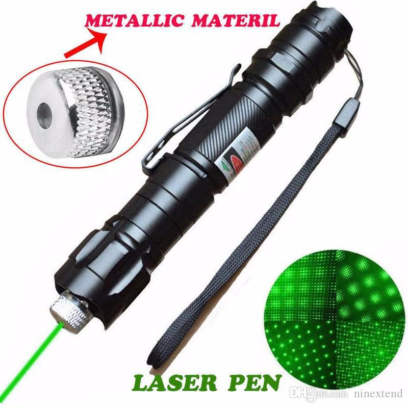 Powerful Green Laser Pointer Pen Beam Light 5mW Lazer Power 532nm Zoomable Waterproof Torch Outdoor Sports Camping & Hiking Concert