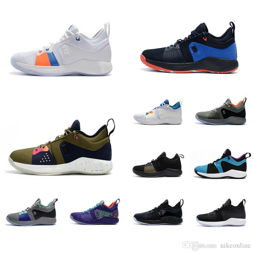 low priced fb5e8 60f7f Mens PG 2 basketball shoes 2s Playstations Games BHM Christmas Mamba  Mentality Paul George PG2 elite sneakers boots with box for sale