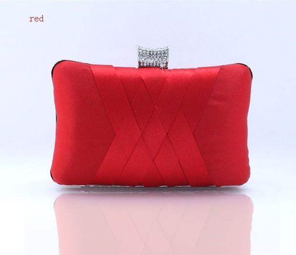 Ярко-розовый китайский женский Атлас свадебная вечерняя сумка сцепления сумочка для новобрачных кошелек макияж сумка 7395-H