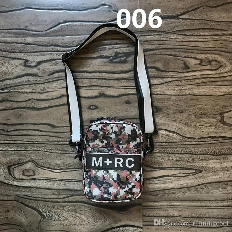 New M+RC NOIR RR Cross Body Bags 3M Reflective Shoulder Bag Storage Bag Waist Bag Men Canvas Mobile Phone Packs Messenger Bags