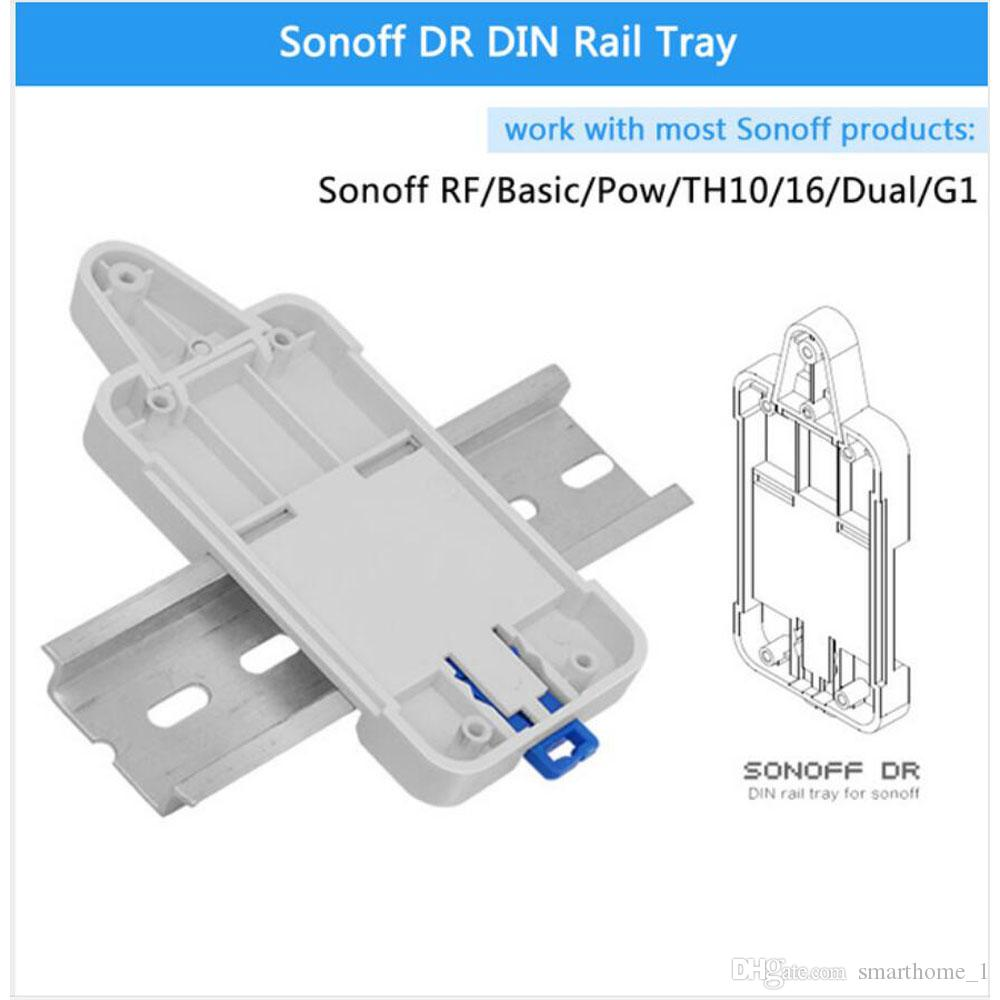 Access Control Kits Nice Sonoff Dr Din Rail Tray Itead Adjustable Mounted Rail Case Holder Solution For Sonoff Switch Mounted Onto The Guide Track Kit Security & Protection