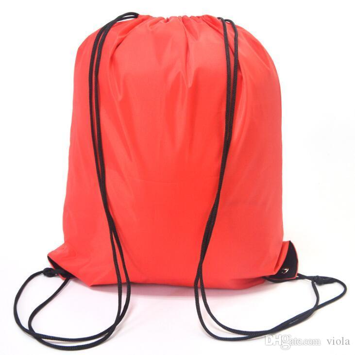 816572e6b432 2019 Kids  Clothes Shoes Bag School Drawstring Frozen Sport Gym PE Dance  Backpacks Nylon Backpack Polyester Cord Bag From Viola