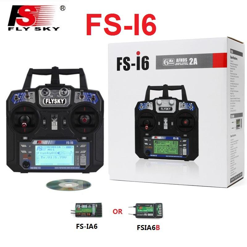 Flysky FS-i6 FS I6 2 4G 6ch RC Transmitter Controller with FS-iA6 IA6B  Receiver For RC Helicopter Plane Quadcopter Glider drone