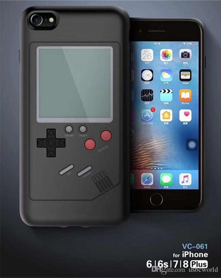 Retro Game Tetris Phone Cases Play Game Console Cover Shockproof Protection Case For iPhone X 8 7 6 Plus With Retail package
