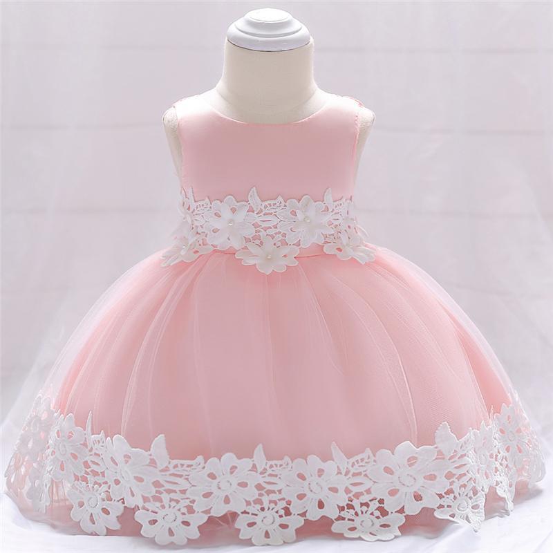 ffa39682a Compre Vestidos Para Niñas Pequeñas Vestido De Encaje De Crochet Para Bebés  Vestuario De Bautismo Para Bebés Fiesta De Cumpleaños Formal Y Vestido De  Novia ...
