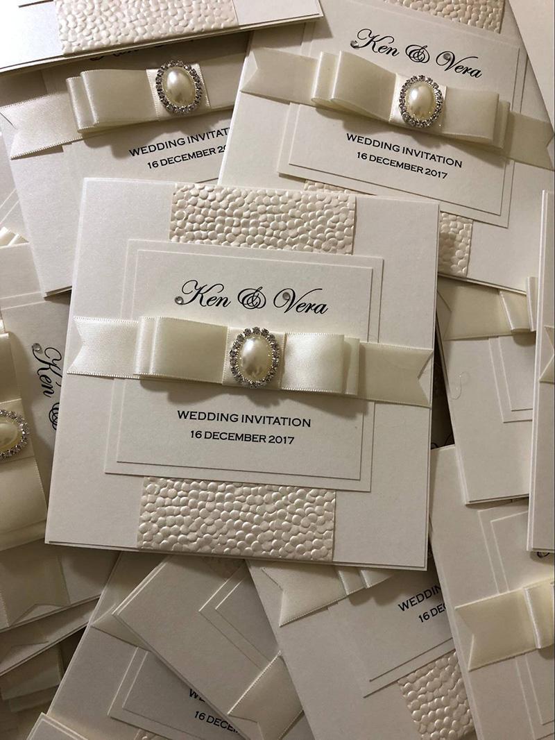 Handmade Wedding Card Pretty Bow Wedding Invitations Make My Own ...