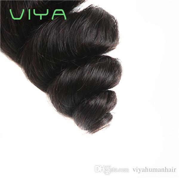 9A Remy İnsan Saç Brezilyalı Virgin İnsan Saç Demetleri 3 adet / grup 100% Işlenmemiş Gevşek Dalga Bakire Saç Uzatma Toptan Fiyat